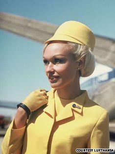 Beautiful vintage Lufthansa Flight Attendant uniform.  1970-1979