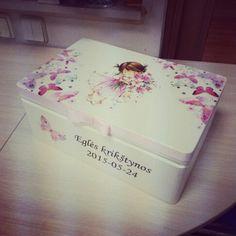 Keepsake box #keepsake #christening #box #decoupage