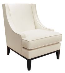 "Bernhardt | Lancaster Chair (B1411).  28""W X 33""D X 38""H.  Pretty neo traditional take on wing back chair.  Living room."