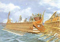 Antiikin Kreikan aikaan ei voitu navigoida avomerellä, joten laivat joutuivat pysymään rannan lähellä.