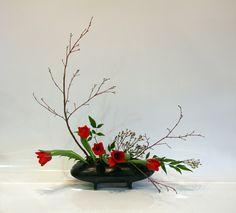 ikebana flower arrangement pictures sogetsu | SOGETSU IKEBANA FLOWER ARRANGING BY CHRISSIE HARTEN - DESIGN 21