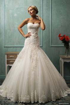 AmeliaSposa Wedding Dresses 2014 Collection. To see more: http://www.modwedding.com/2013/12/29/amelia-sposa-wedding-dresses-2014-collection/ #wedding #weddingdress #weddingdresses