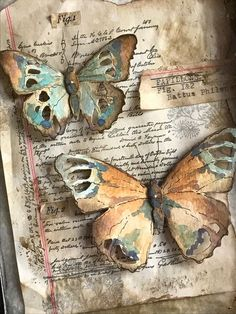 I'm back today sharing a butterfly specimen case I created using the new Tattered Butterfly Bigz Die that was released by… Mixed Media Collage, Mixed Media Canvas, Collage Art, Butterfly Art And Craft, Butterfly Cards, Origami Butterfly, Kunstjournal Inspiration, Art Journal Inspiration, Art Journal Pages