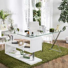 Furniture of America Marisa Contemporary Convertible Executive Desk (White), Size Large