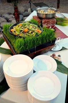 A Hawaiian/Polynesian themed Salad and Appetizer Buffet