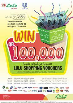 Lulu Buy Unilever product & win QR 100000 Vouchers - QATAR (Upto 30th March 2016) - UAE SHOPPING INFO !!!!