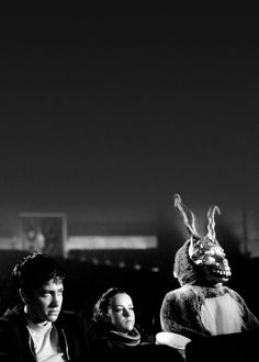 "Jake Gyllenhaal,Jena Malone and Frank in ""Donnie Darko"" (2001)"
