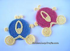 Crochet Cinderella Carriage inspo. for purse for olivia