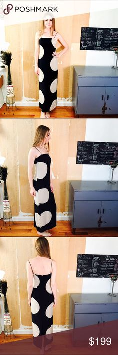 "MUSE ANTHROPOLOGIE POLKA DOT MAXI #287 MUSE, Polka dot, black and cream dress. Thin strap. Size 2.  CONDITION: EUC, No issues.  🎁 SHIPS WITHIN 24HRS  CHEST: 30"" WAIST: 28"" LENGTH: 51"" INSEAM:  *All measurements taken while item is laid flat (doubled when necessary) and measured across the front  MATERIAL: Unknown  STRETCH: None INSTAGRAM @ORNAMENTALSTONE 🚫Trading Anthropologie Dresses Maxi"