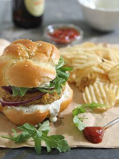 Spicy bacon chickpea burgers by Runningtothekitchen, via Flickr