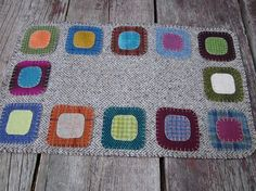 Wool penny rug table runner by granniesraggedybags on Etsy, $38.00