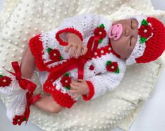 This listing is for a Beautiful Baby Christmas Dress. Your little Princess is bound to be the centre of attraction in this one of a kind white and red Baby Dress. This baby dress is offered in Newborn/0-3 months to 18-24 months. This dress will make an heirloom dress to be passed on for generations. Will make a great Baby Christmas Dress/ Baby Shower Gift/ Flower Girl Dress/ Coming Home Outfit/ Newborn Baby Gift/ 1st Christmas Dress/ Party dress/ Evenin...