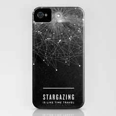 STARGAZING IS LIKE TIME TRAVEL iPhone Case