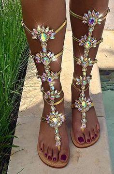 74a3fccc658e75 Sandals Summer 2017 Gold Women Sandals Rhinestone Flat Gladiator Sandals  Summer Women Shoes Sandalia Feminina Women Shoes Plus Size Crystal - There  is ...