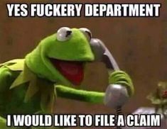 Kermit be on point lol! Glad we don't get the letters going around the community - just BS! Funny Kermit Memes, Stupid Funny Memes, Funny Relatable Memes, Haha Funny, Hilarious, Funny Shit, Funny Stuff, Silly Jokes, Funniest Memes