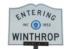 Winthrop Massachusetts Town Line Sign Winthrop Massachusetts, Lexington Massachusetts, Map, Signs, Guest Room, Smile, Spaces, Vacation, City