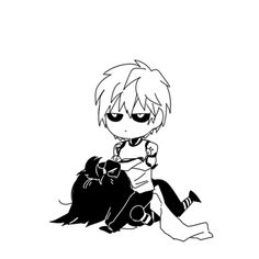 One Punch Man - Chibi Sonic and Genos One Punch Man Sonic, One Punch Man Funny, One Punch Man Manga, Fan Anime, Anime One, Anime Manga, One Punch Man Episodes, Speed Of Sound Sonic, Caped Baldy