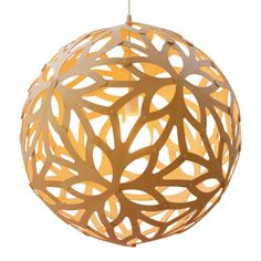 Floral Light bamboo with color on the inside.  Comes in a small do-it-yourself kit for assembly.