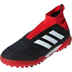 cd99e5a5fec36 adidas Predator 18+ Turf Soccer Shoes - Black White Red Tango