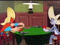 Looney Toons ~ Bugs Bunny and Yosemite Sam Looney Tunes Characters, Classic Cartoon Characters, Looney Tunes Cartoons, Cartoon Books, Cartoon Tv Shows, Cartoon Gifs, Classic Cartoons, Animated Cartoons, Best Cartoons Ever
