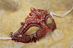 LUXURY Gold Silver Pink Purple Red Blue Black Venetian MardiGras Masquerade Mask