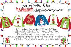 Tacky sweater party invitation holidays pinterest stopboris Choice Image