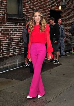 I love wearing analogous colors together.  Sarah Jessica Parker