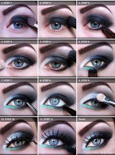 great smokey eye for blue eyes - 20 TUTORIALS FOR SMOKEY EYES