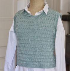 Vårgrøn vest i strukturmønster - susanne-gustafsson. Teenage Outfits, Knit Vest, Kawaii Clothes, Drops Design, Latex Fashion, Outfit Of The Day, Knit Crochet, Knitting Patterns, Cute Outfits