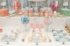 Pink & Blue First Birthday Guest Dessert Feature | Amy Atlas Events