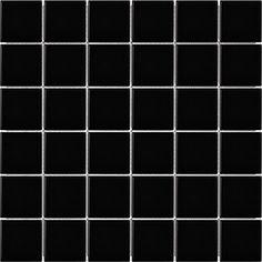 Soho Black Matte Porcelain Mosaics 2x2