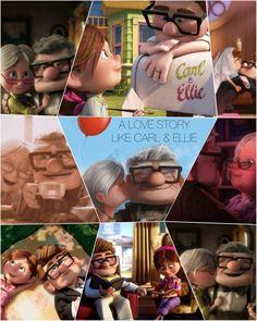 A love like Carl Ellie Up Pixar, Disney Pixar Up, Disney Love, Up 2009, I Fall In Love, My Love, Cartoon Movies, When I Grow Up, Big Hero 6