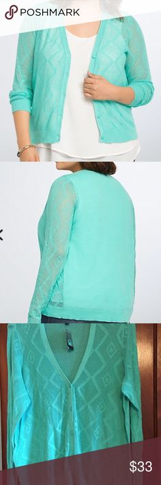 NWT Torrid size 3 pointelle cardigan Light, soft, and beautiful but t's too big for me.  Asking what I paid. NWT torrid Tops Camisoles