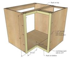 """Building Kitchen Base Cabinets ana white 