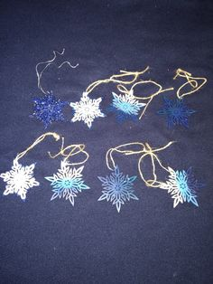 Cutout star painted ornaments