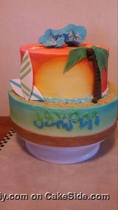 *Tropical Cake* by Luella Goodall on www.cakeside.com