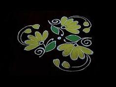 Easy chukkala muggu Very simple flower design rangoli For beginners Dot's. Simple Rangoli Designs Images, Small Rangoli Design, Rangoli Patterns, Rangoli Designs With Dots, Rangoli Designs Diwali, Kolam Rangoli, Flower Rangoli, Rangoli With Dots, Beautiful Rangoli Designs
