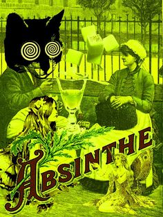 Absinthe Poster by Flamenco Sun, via Flickr