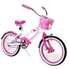 Hellokitty girls pink/white bike