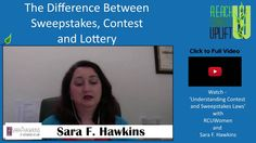 Legally run sweepstakes and contests in your business with these tips from Attorney Sara F. Hawkins.