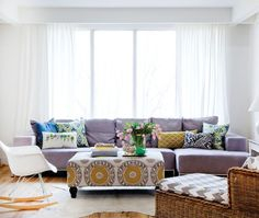 Purple!  Living Rooms | House & Home