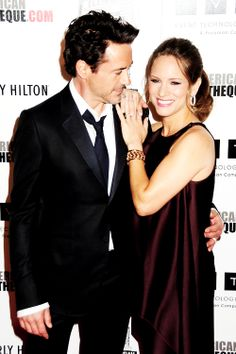 (Robert Downey Jr. & Susan Downey) No doubt about it, RDJ loves his beautiful woman.