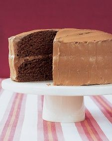 Velvet Cocoa Cake with Instant Buttercream - Martha Stewart Recipes