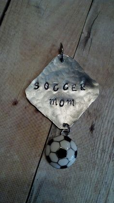Soccer mom charm.  More Soccer designs at: www.zazzle.com/SoccerMomCity?rf=238479042766184488 and http://www.cafepress.com/SoccerMomCity?aid=78178956