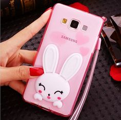 Iphone Cute Samsung Galaxy J5 J7 A3 A5 A7 2016 3D Rabbit Ear Glitter Stand Case PC Cover For Samsung Galaxy S7 S6 Edge Phone Cases Grand Prime