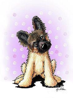 KiniArt Shepherd Puppy by Kim Niles Cute German Shepherd Puppies, Puppy Drawing, Thing 1, Marker Art, Dog Park, Westies, Pet Portraits, Dog Breeds, Art Prints