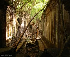 Ruins of the Beng Mealea temple. Angkor Archaeological Park. Siem Reap Province of Cambodia. www.victortravelb...