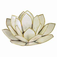 These capiz shell Lotus Flower tealight holders are beautiful decor accents. They also symbolize eastern spiritual enlightenment. Use alone or several to create amazing tablescapes,