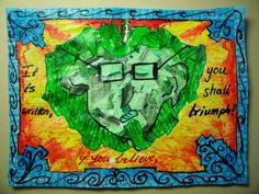 It Is Written, If You Believe, You Shall Triumph | Mixed Media Art Journal Page