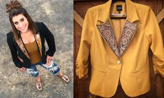 Business Meetings Get Western With Tooled Leather Blazers - COWGIRL Magazine